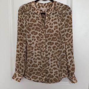 Banana Republic nude leopard blouse